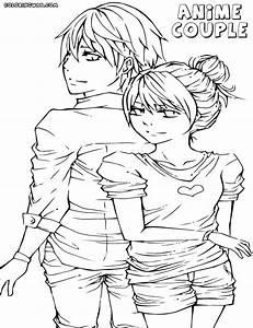 Anime Couple Coloring Pages Coloring Pages To Download