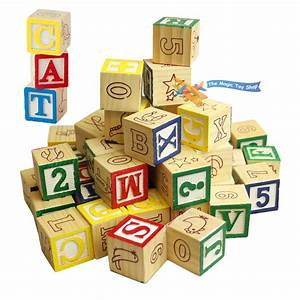 our price gbp 499 With wooden building blocks with letters