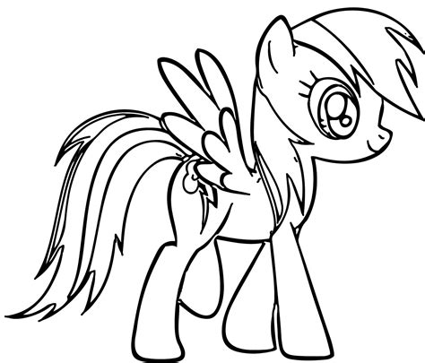 pony rainbow dash coloring pages