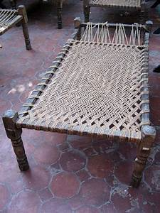 Cot | made in India | materials: wood, rope weave | HUT ...