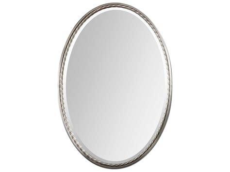 Uttermost Casalina 22 X 32 Nickel Oval Wall Mirror