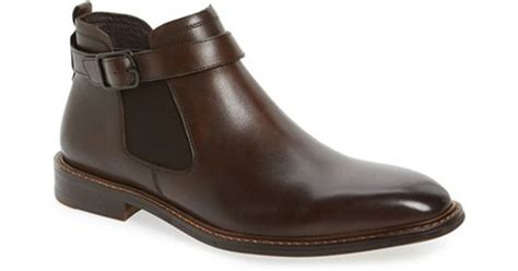 Kenneth Cole Leather 'sum-times' Chelsea Boot in Brown for ...