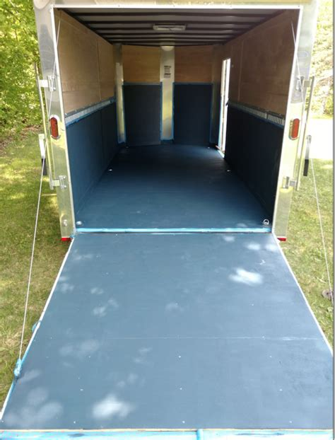 Floor preparation and cleaning, choosing the right affordable floor material cutting we install werm rubber flooring in new and used aluminum stock trailers. Enclosed Trailer floor coating | LawnSite.com™ - Lawn Care ...