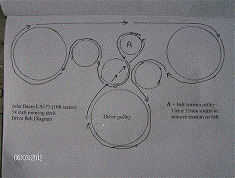 solved john deere la  belt diagram fixya