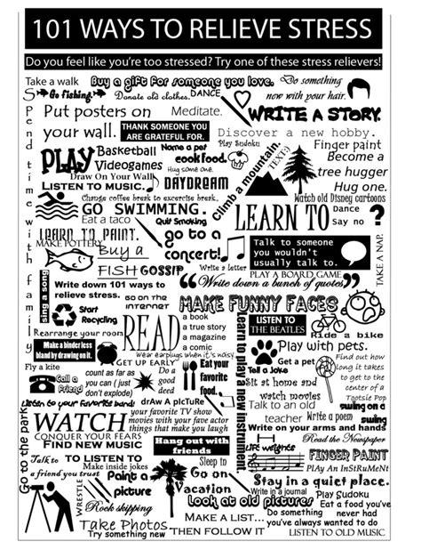 101 Ways To Relieve Stress By Laylatheblackcheetah On Deviantart