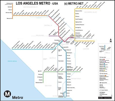 Carte Métro 2018 by Carte Metro Los Angeles Stopeads