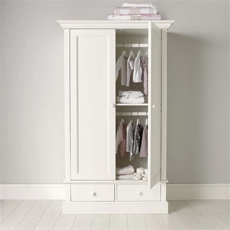 White Hanging Wardrobe by Classic White Small Wardrobe Goodglance
