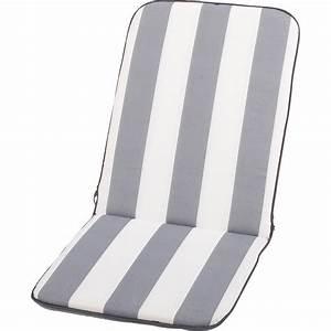 Coussin Exterieur Gifi : coussin d 39 assise et dossier de chaise ou fauteuil blanc gris evy jardin prive leroy merlin ~ Teatrodelosmanantiales.com Idées de Décoration