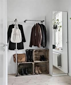 Idee Rangement Chaussure : 1001 id es et tutos pour fabriquer un meuble en cagette charmant ~ Teatrodelosmanantiales.com Idées de Décoration