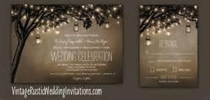 unique save the date cards tree wedding invitations vintage rustic wedding invitations