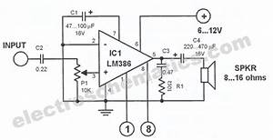 Lm386 Audio Amplifier Circuit