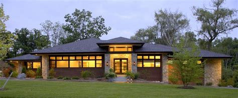 contemporary prairie style house plans small home one prairie style home contemporary exterior detroit