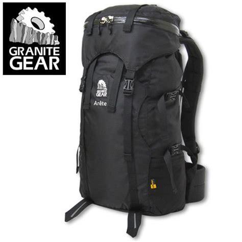 granite gear arete backpack 38l black 1 lb 14oz