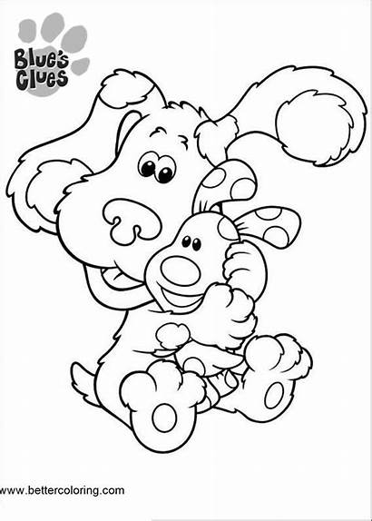 Clues Coloring Pages Hug Printable Blues Adults