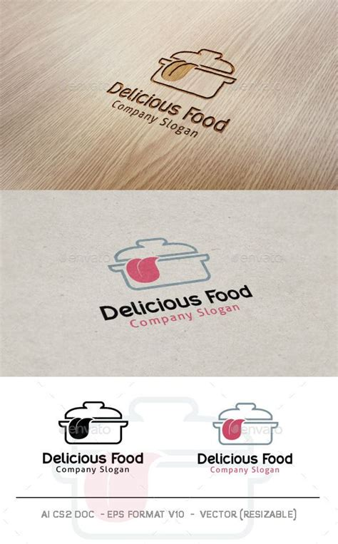 Find all kind of graphics that are related to your cuisine. Delicious Food Logo (Dengan gambar) | Desain