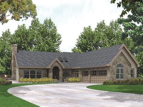 carrollstone country ranch home plan   house plans