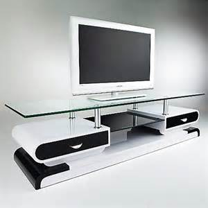 meuble tv monza tele lcd plasma laque noir blanc meuble tv topkoo