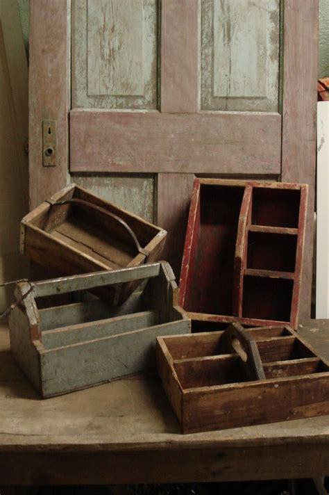 antique wooden carpenters tool box woodworking projects