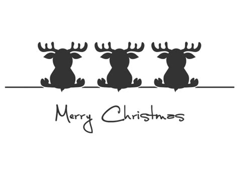 Wandtattoo Süße Weihnachtselche Merry Christmas