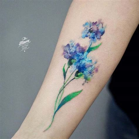 beautiful watercolor tattoo designs  women styles