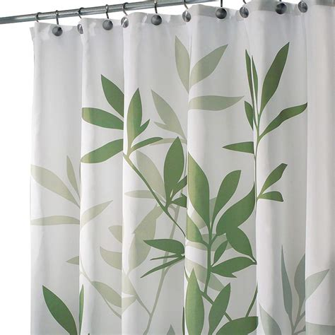 84 inch shower curtain interdesign leaves shower curtain green 72 inch by