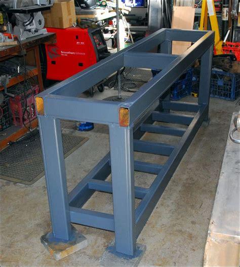 steel welding table plans steel workbench made from pallet racks garage