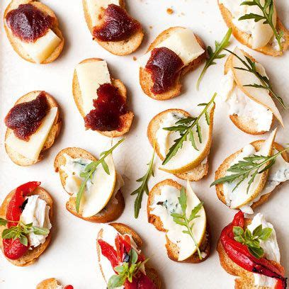 canape toppings crostini recipes canapes and appetizers on