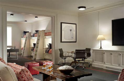 Sleepover Room - Contemporary - media room - John B Murray