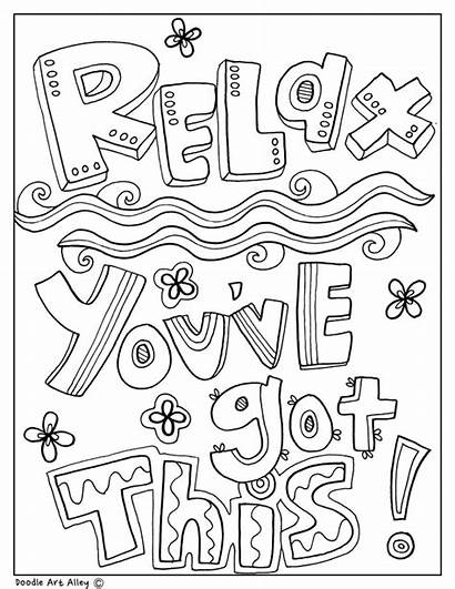 Coloring Pages Quotes Educational Classroom Colouring Quote