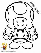 Coloring Mario Toad Pages Popular sketch template