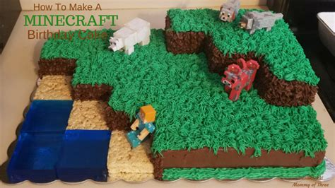 how to decorate a minecraft cake how to make and decorate a minecraft landscape birthday