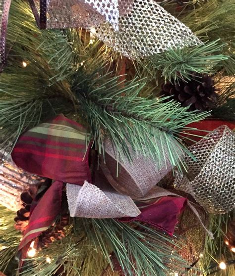 how to decorate a christmas tree from start to finish hometalk how to decorate a tree with ribbon
