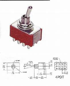 Toggle Switch 4 Pole Double Throw Changeover Pk10  J 800-248  10