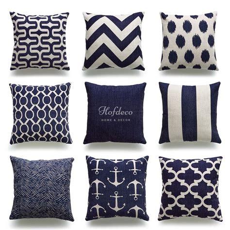nautical sofa covers hofdeco throw pillow cover navy blue nautical coastal