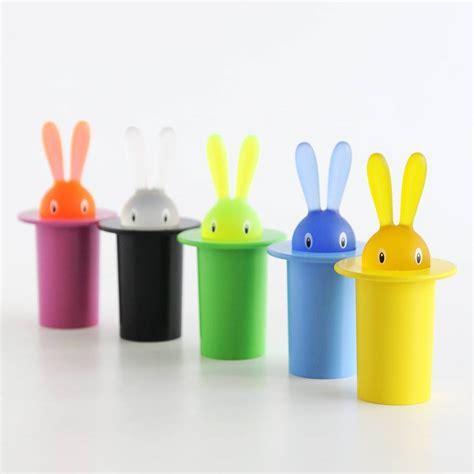 A Di Alessi Magic Bunny Toothpick Holder   Blue: NOVA68.com