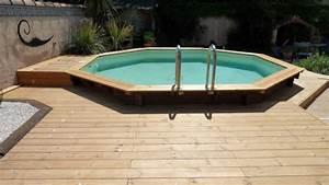 terrasse en bois autour d39un piscine With comment poser des dalles autour d une piscine 8 terrasse piscine gravier