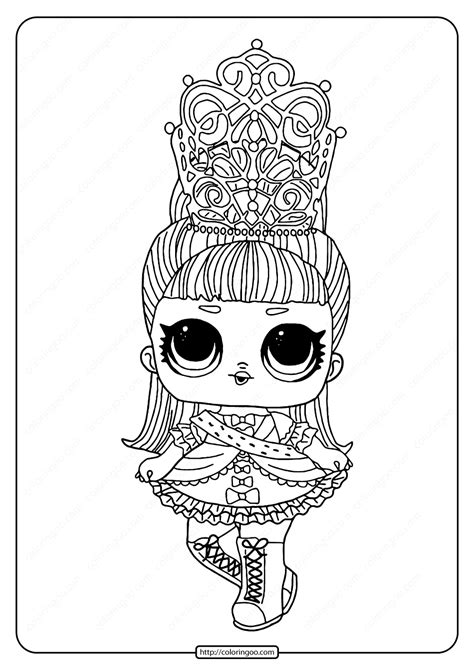 lol surprise hairgoals  majesty coloring page