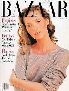 Harper's Bazaar Cover Featuring Kate Moss, July 1993 ...