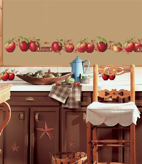 apples  big wall decals country stars border kitchen