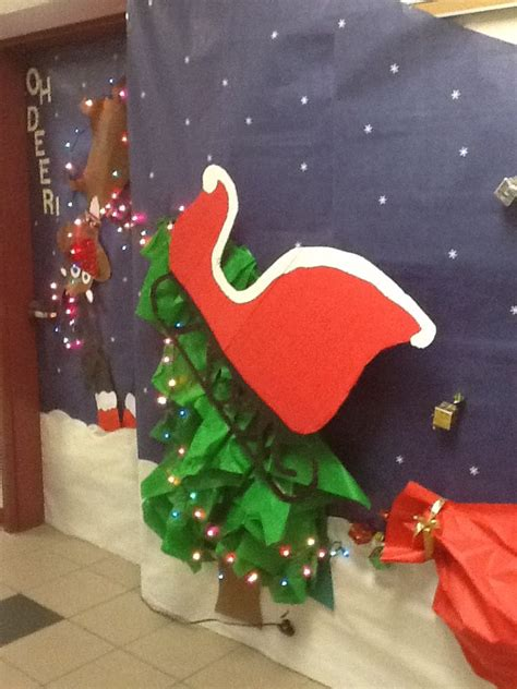 christmas decorations for school door doors bulletin board and school