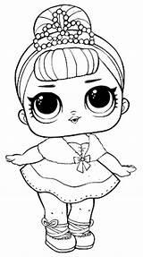 Lol Surprise Coloring Dolls Doll Pages Series Raskrasil Raskraski Tiara Shiny Wearing sketch template