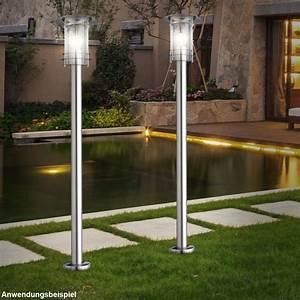 Lichter Für Den Garten : 2er set steh au en lampen edelstahl ip44 leuchten garten lichter weg beleuchtungen kaufen bei ~ Sanjose-hotels-ca.com Haus und Dekorationen