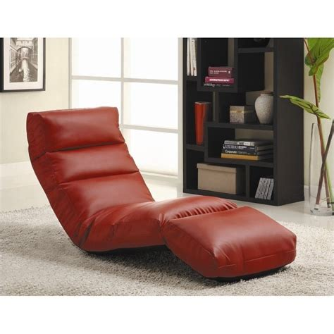 homelegance gamer floor chair red chaise lounge