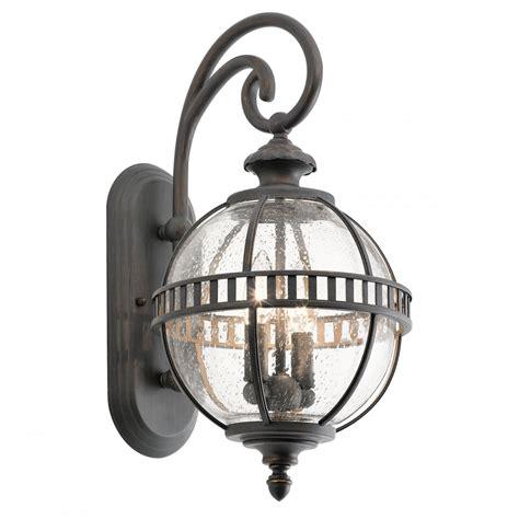 small globe style exterior lantern in