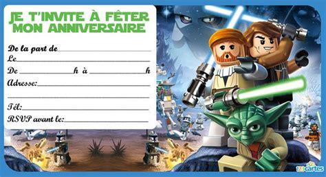 Invitation Anniversaire Lego Star Wars