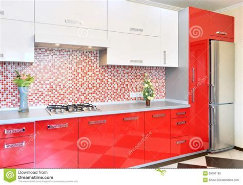Kitchen Red And White Royalty Free Stock Photo   Image
