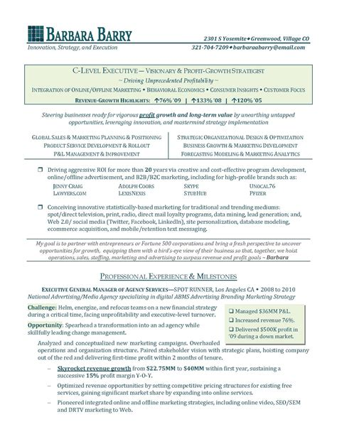 Executive Resume by Business Development Executive Resume