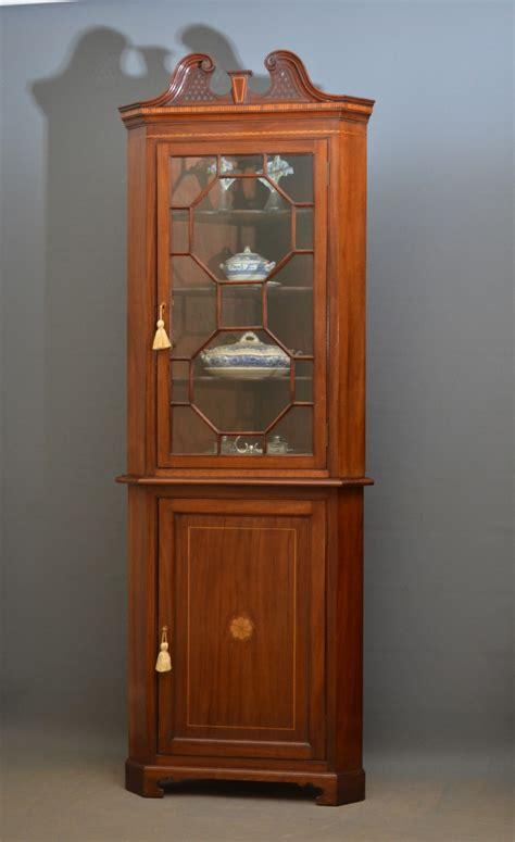 mahogany corner cabinet edwardian mahogany corner cabinet edwardian corner 3949