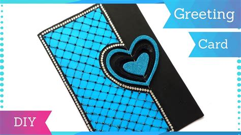 Diy Heart Greeting Card Design For Birthday