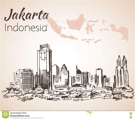indonesia map  cities cartoon vector cartoondealer